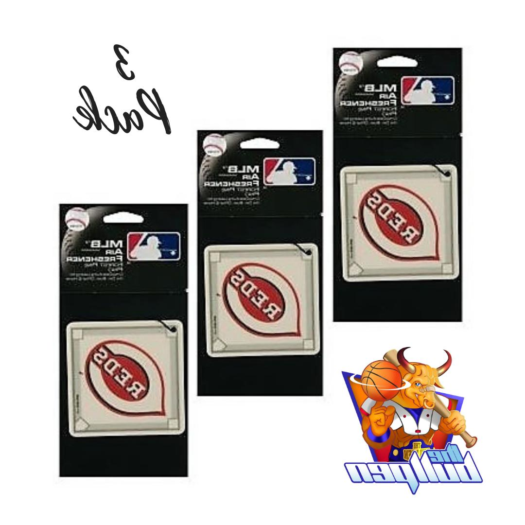 3x cincinnati reds air fresheners licensed forest