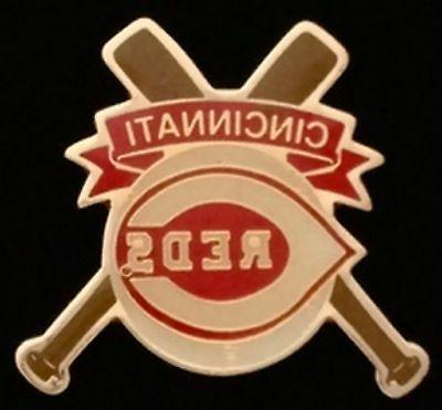 cincinnati reds baseball pin badge mlb cross