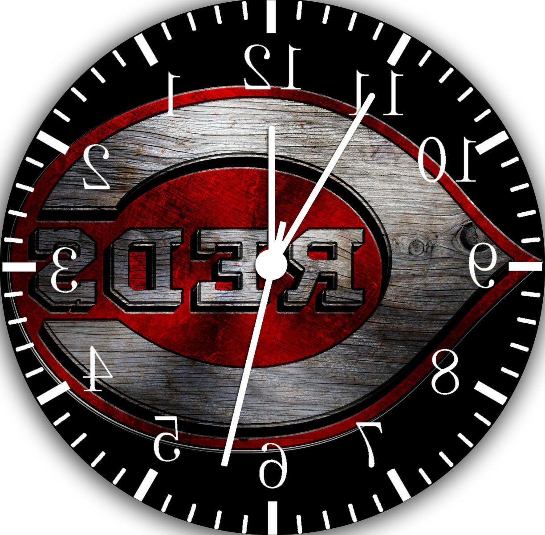 cincinnati reds wall clock f65