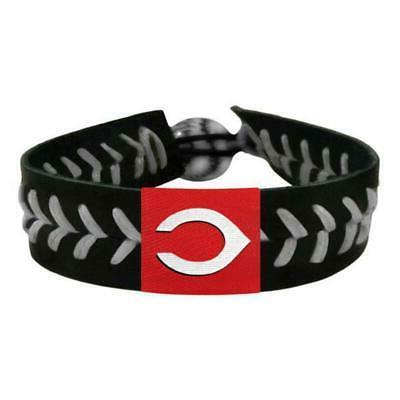 cincinnati reds bracelet team color baseball