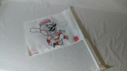 cincinnati reds car flag mr redlegs mascot
