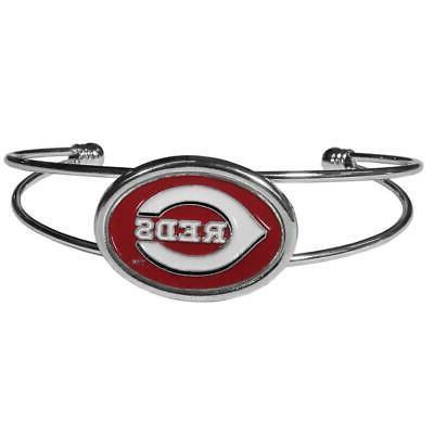 cincinnati reds double bar cuff bracelet new