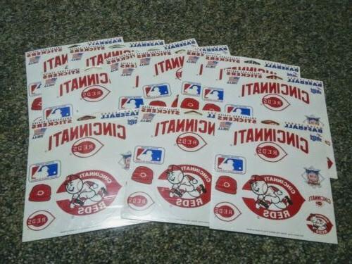 cincinnati reds fun stickers 14 sleeves sealed