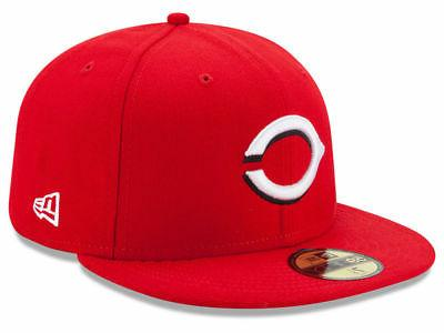 cincinnati reds home 59fifty fitted hat red