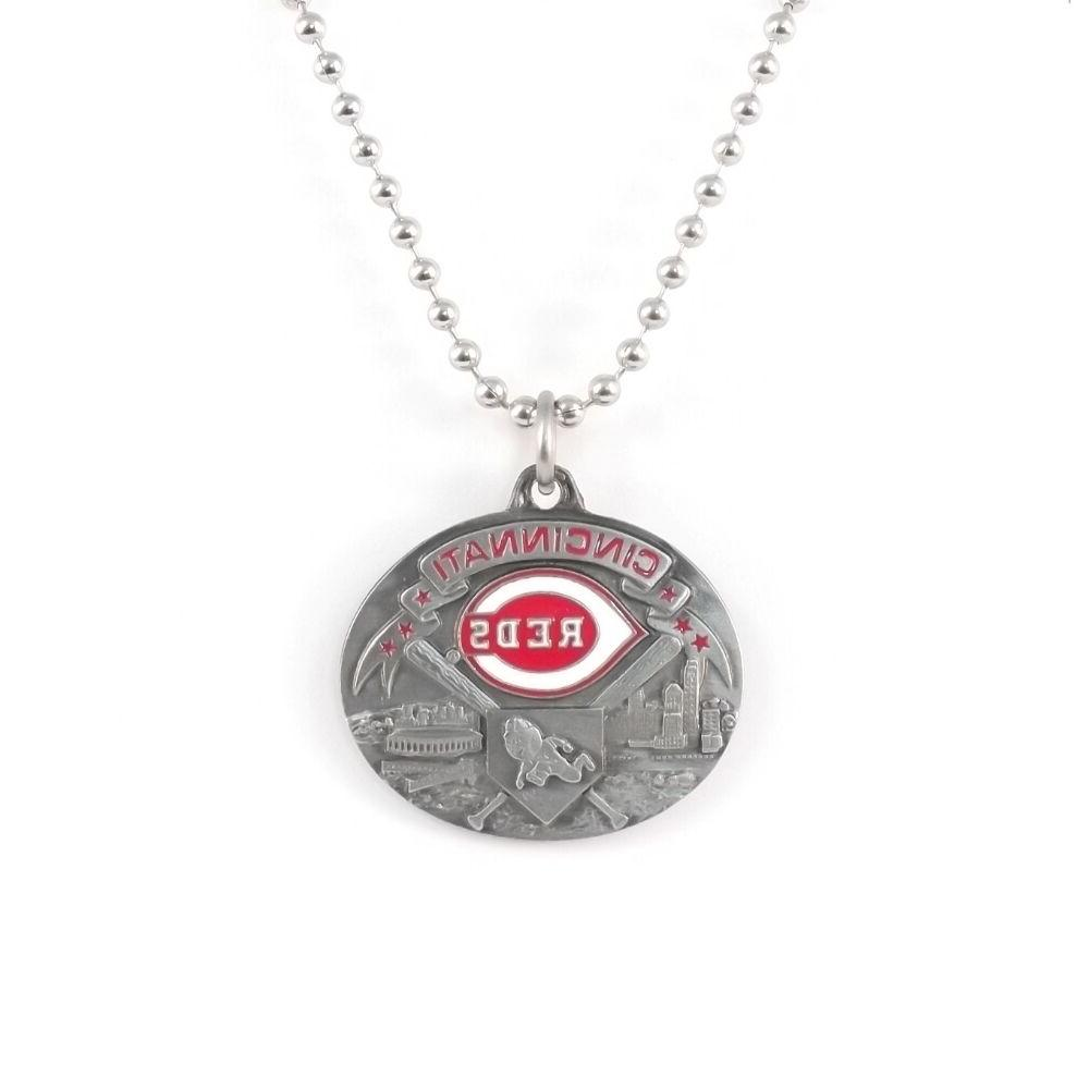 cincinnati reds large pendant necklace 21206 new