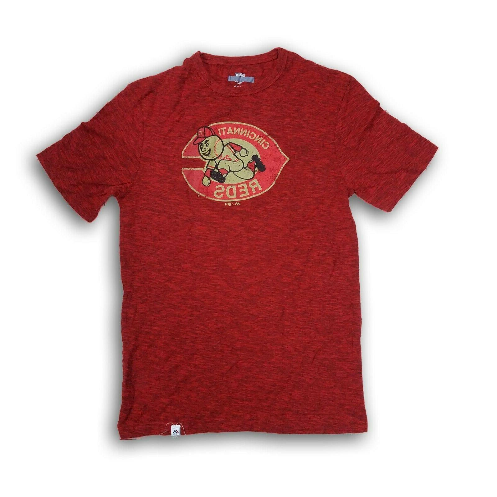cincinnati reds men s red short sleeve