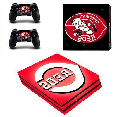 Cincinnati Reds PS4 Pro Skin Sticker Decal Vinyl Console+2 c