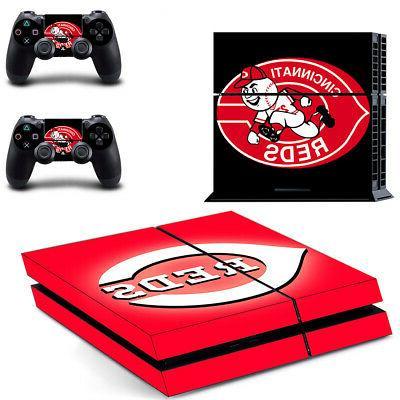 Cincinnati Reds PS4 Skin Sticker Decal Vinyl Console+2 contr