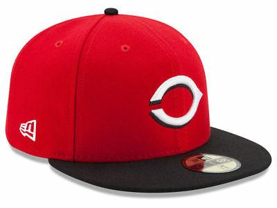cincinnati reds road 59fifty fitted hat red