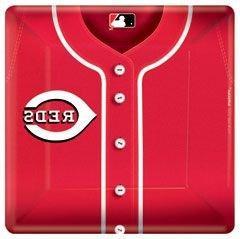 "Cincinnati Reds 10"" Square Paper Plates - 18 Per Unit"