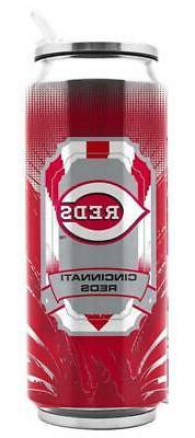 Cincinnati Reds Stainless Steel 16.9oz Thermo Can  MLB Mug T