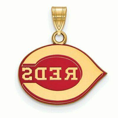 cincinnati reds women s gold plated enamel