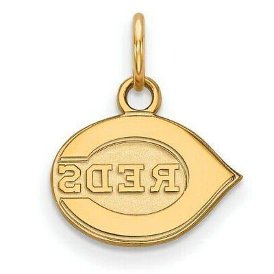cincinnati reds women s gold plated sterling