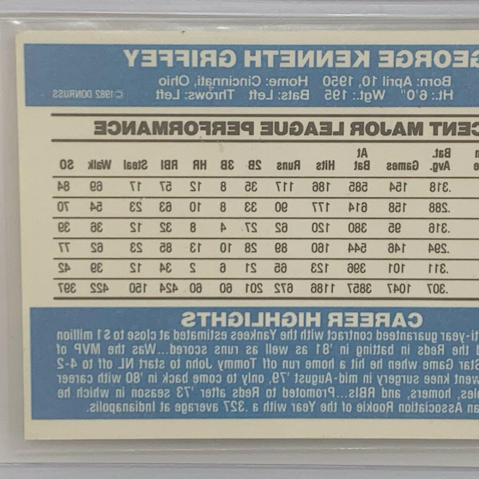 George Ken Cincinnati Reds 1982 Card in