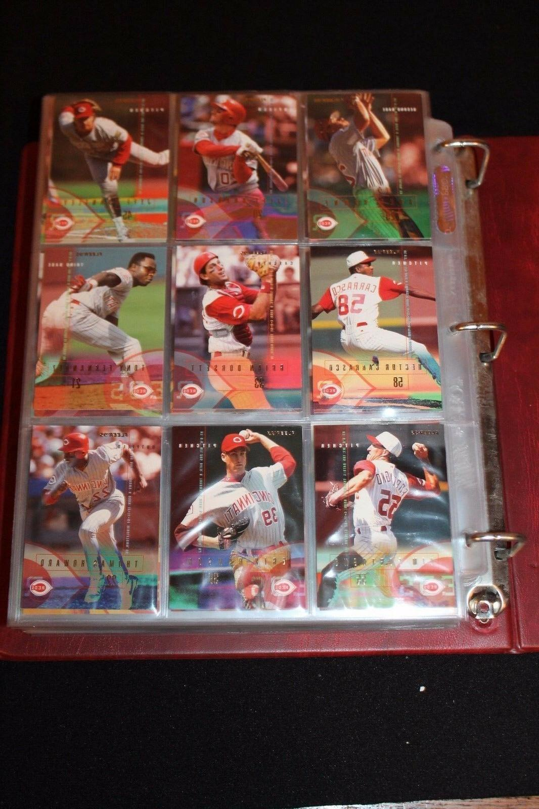 huge lot of cincinatti reds baseball cards