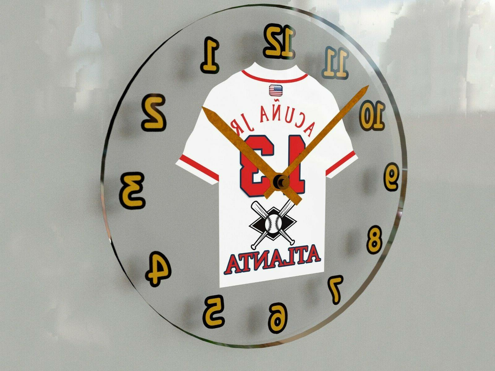 "MLB THEMED WALL CLOCKS - 12"" x - THE BEST A FAN CAN GET"