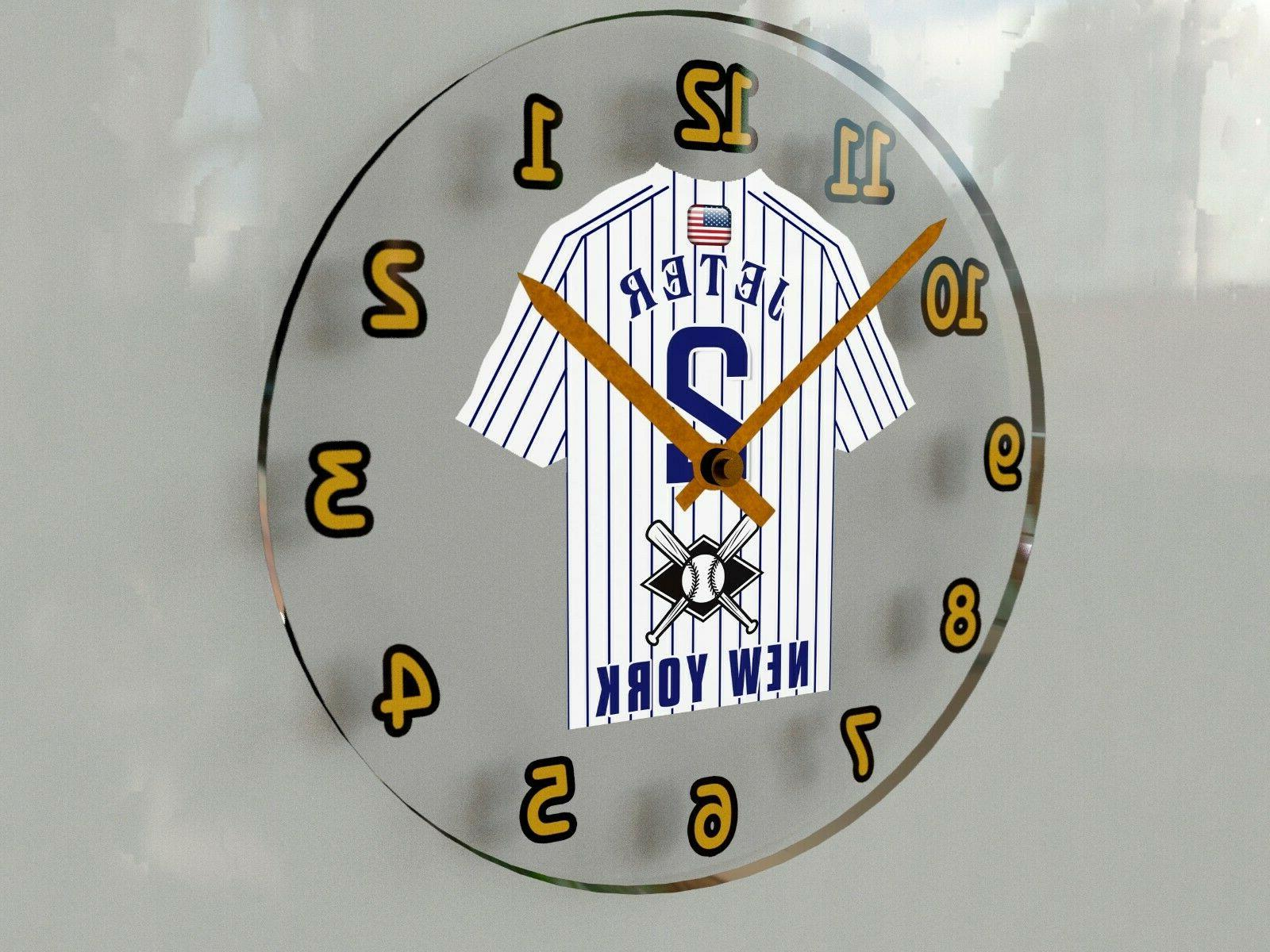 mlb baseball jersey themed wall clocks 12