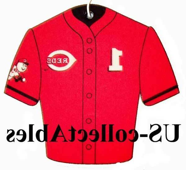 mlb cincinnati reds baseball jersey air freshener