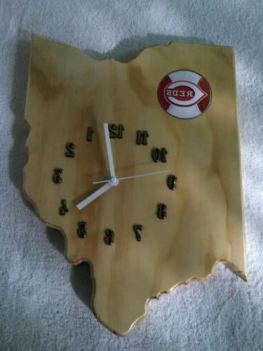 mlb cincinnati reds ohio state wood quartz