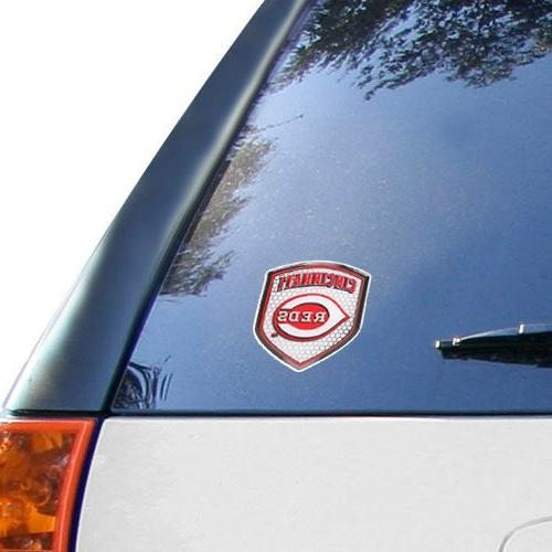 mlb cincinnati reds shield automobile