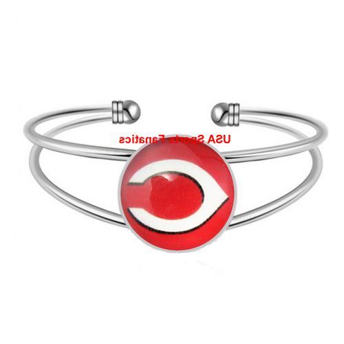 mlb cincinnati reds team logo adjustable bangle