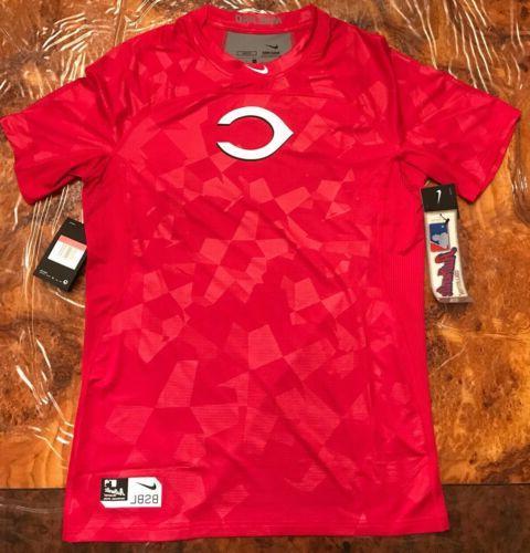 pro cincinnati reds hypercool fitted short sleeve