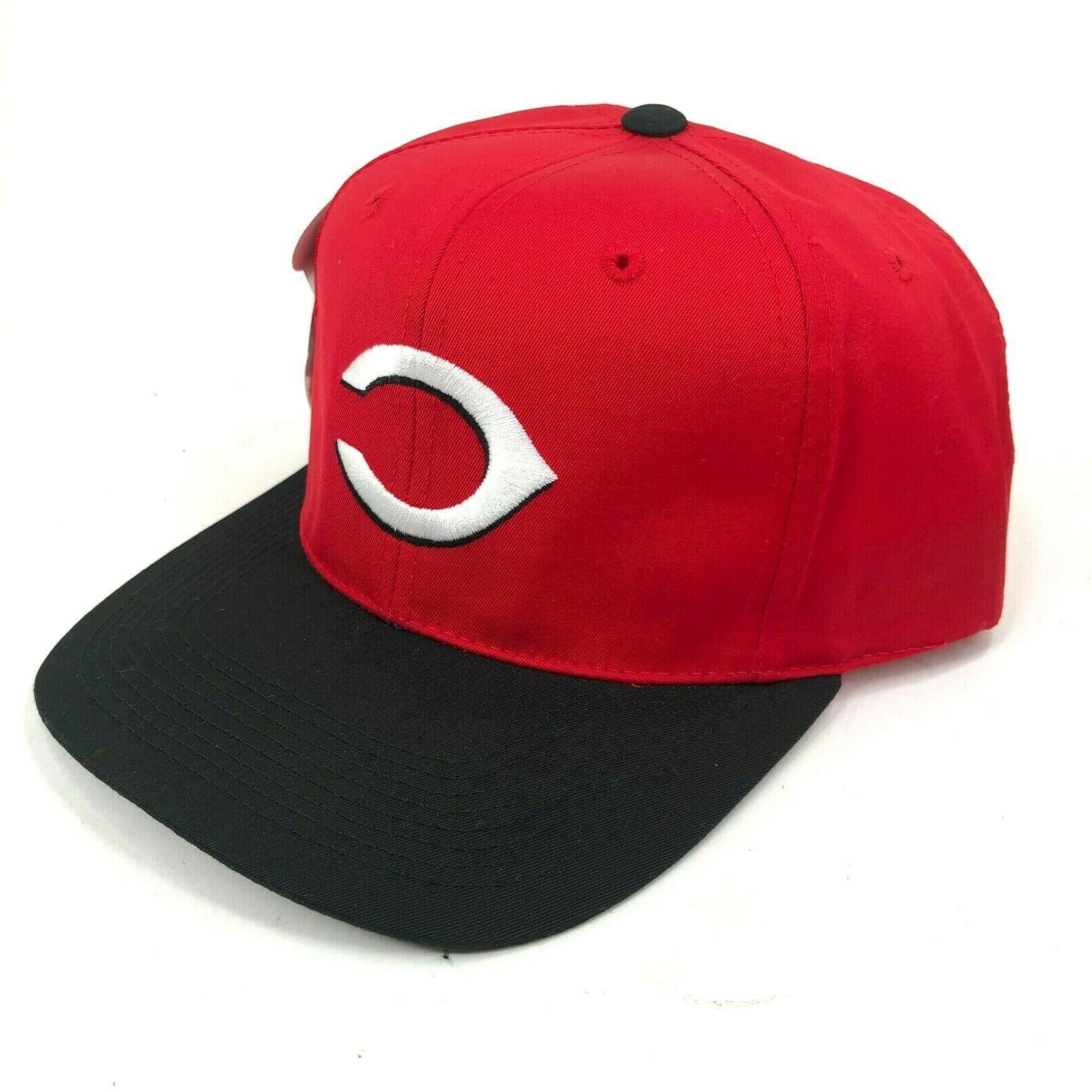 vintage cincinnati reds snapback hat c logo