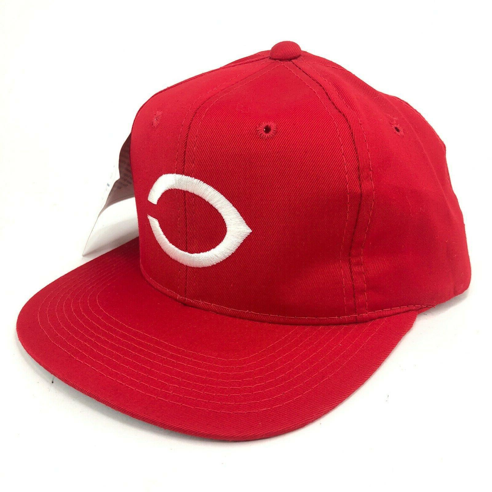 vintage cincinnati reds snapback youth hat red