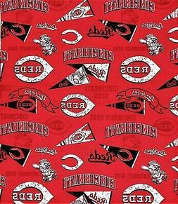 Mask Fabric Cincinnati Reds MLB Major League Baseball 1/4 ya