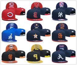 MLB Baseball Hat Flat Brim Team Embroidered Logo Snapback Ca