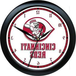 mlb cincinati reds 10 wall clock