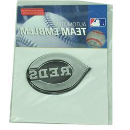 MLB Cincinnati Reds Automotive Emblem Vehicles Cars Silver3D