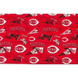 MLB Cincinnati Reds Major League Baseball Cotton Fabric BTY