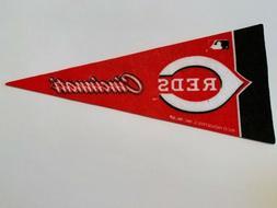 "MLB Cincinnati Reds Mini Pennant Flag 4""x9"" NEW Baseball Dec"