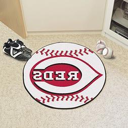 FANMATS MLB Cincinnati Reds Nylon Face Baseball Rug