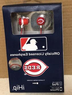 MLB Cincinnati Reds Officially Licensed Earphones for Iphone
