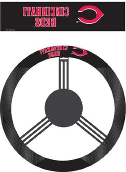 MLB Cincinnati Reds Poly-Suede Steering Wheel Cover