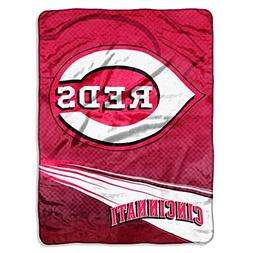 MLB Cincinnati Reds Speed Plush Raschel Throw Blanket, 60x80