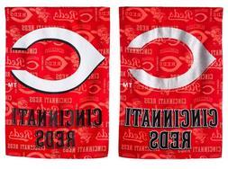 MLB Cincinnati Reds Suede Glitter House Flag
