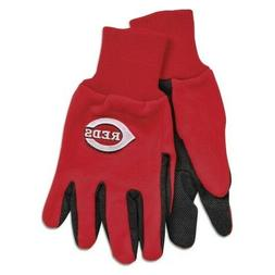 MLB Cincinnati Reds Two-Tone Gloves, Red/Black