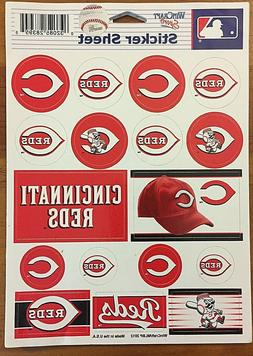 "MLB Cincinnati Reds Vinyl Sticker Sheet 5""x7"" - USA - set of"