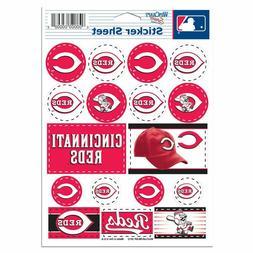 "MLB Cincinnati Reds Vinyl Sticker Sheet, 5"" x 7"""