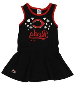 Majestic MLB Girls Toddler Cincinnati Reds Criss Cross Tank