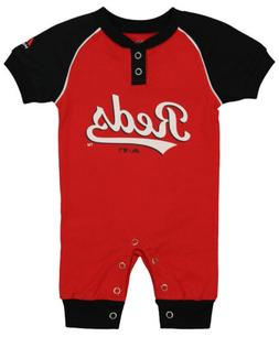 "Majestic MLB Infant Cincinnati Reds ""Game Time"" Coverall"