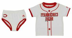 Majestic MLB Infants Cincinnati Reds Little Player Tee & Dia