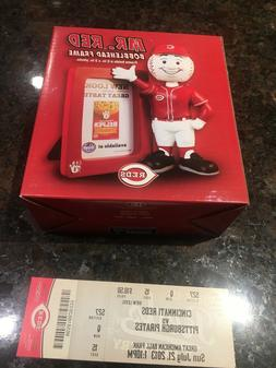 Mr. Red Bobblehead Picture Frame SGA Cincinnati REDS 7/21/13