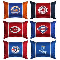 MLB BASEBALL TEAM PILLOW SHAM - Sports Team Logo Jersey Mesh