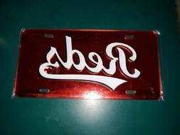NEW Cincinnati Reds License Plate CHROME MIRROR FINISH embos