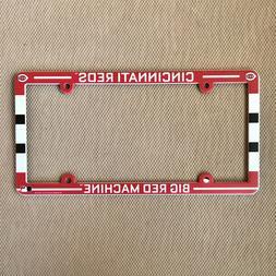 new cincinnati reds license plate frame plastic