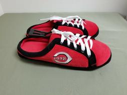 new mens MLB Cincinnati Reds lace front logo slippers
